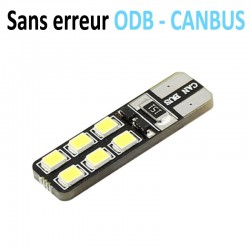 Ampoule Led T10 W5W - (12SMD-2835) - Anti Erreur ODB