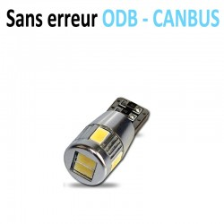 Ampoule led T10 W5W RING - (6SMD-5630-CANBUS XXL) - Anti Erreur ODB