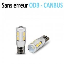 Ampoule led T10 W5W RING - +3W CREE - (8SMD-5630) - Anti Erreur ODB