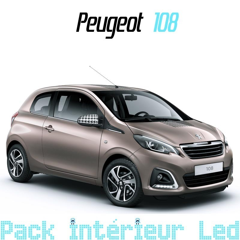 Pack int rieur led pour peugeot 108 led auto discount for Interieur peugeot 108