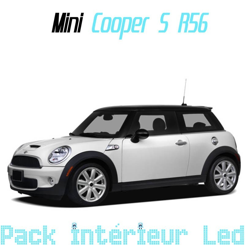 pack int rieur led pour mini cooper s r56 led auto discount. Black Bedroom Furniture Sets. Home Design Ideas