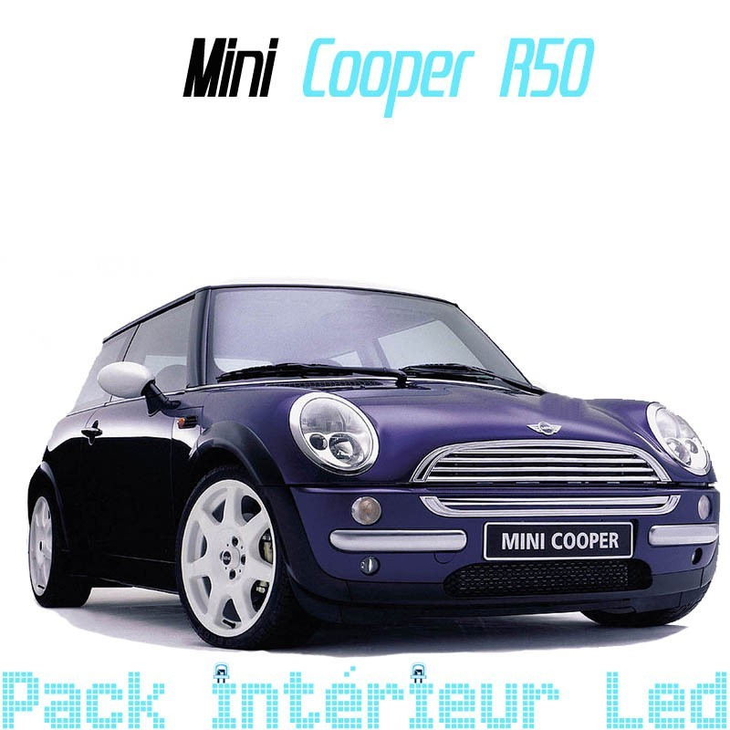 pack led int rieur mini cooper r50 led auto discount. Black Bedroom Furniture Sets. Home Design Ideas