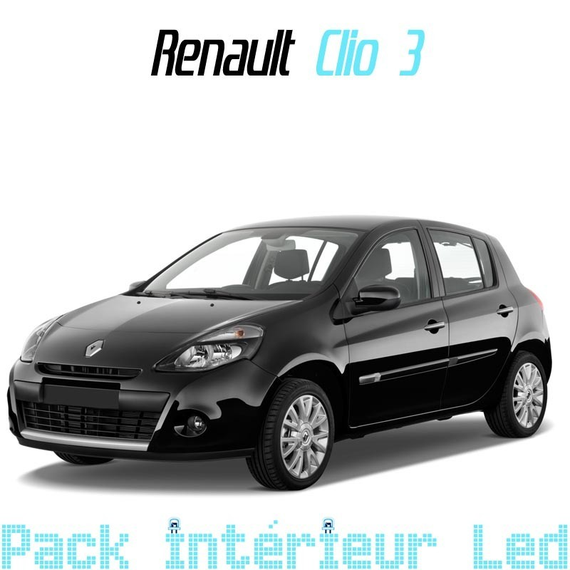 pack int rieur led pour renault clio 3 led auto discount. Black Bedroom Furniture Sets. Home Design Ideas