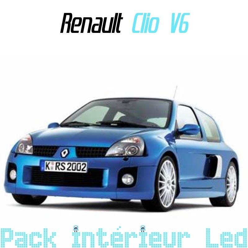 Pack int rieur led pour renault clio 2 v6 led auto discount for Interieur clio 2000