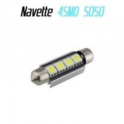 Ampoule navette Led 4 SMD 5050 anti erreur ODB