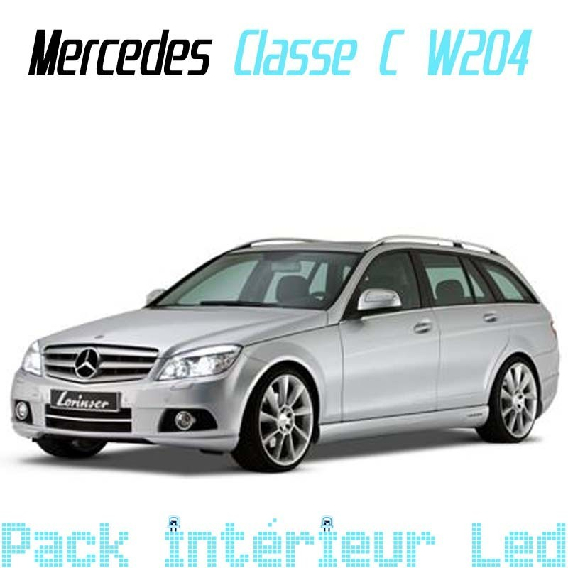 pack led interieur mercedes classe c w204 break led auto discount. Black Bedroom Furniture Sets. Home Design Ideas
