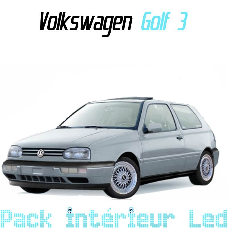 pack int rieur led pour volkswagen golf 3 led auto discount. Black Bedroom Furniture Sets. Home Design Ideas