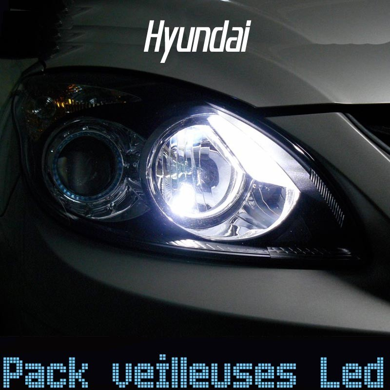 pack ampoules veilleuses led pour hyundai led auto discount. Black Bedroom Furniture Sets. Home Design Ideas
