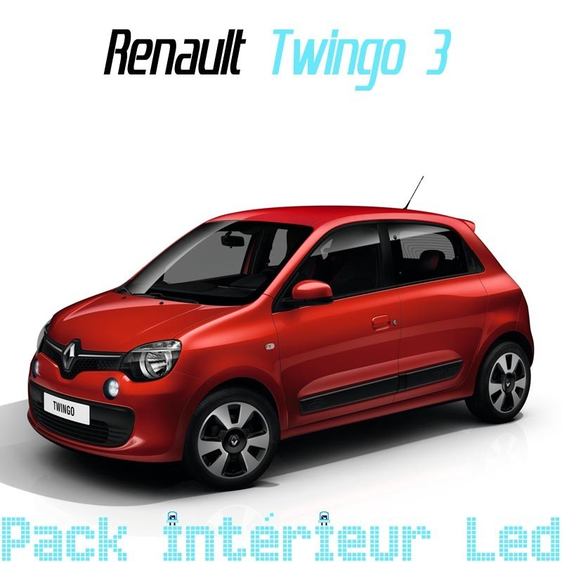 Pack int rieur led pour renault twingo 3 led auto discount for Twingo 3 interieur