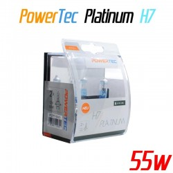 Pack duo PowerTec Platinum H7 12V 55W +130%