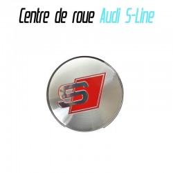 Centre de roue Cache moyeux Audi S Line 60 mm