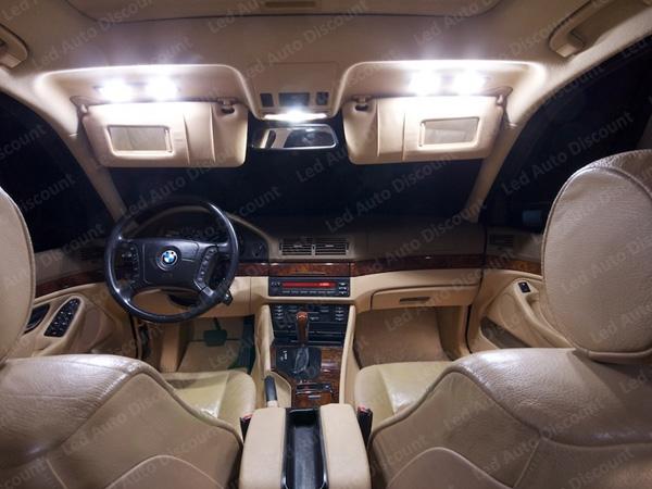 Pack int rieur led pour bmw s rie 5 e39 led auto discount for Accessoire voiture interieur