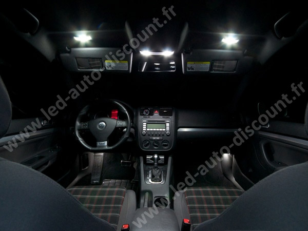pack int rieur led pour volkswagen golf 5 led auto discount. Black Bedroom Furniture Sets. Home Design Ideas