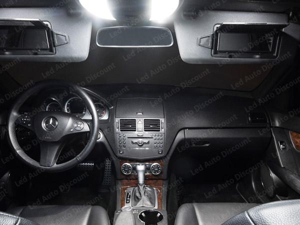 Pack int rieur led pour mercedes classe c w204 led auto for Interieur w204