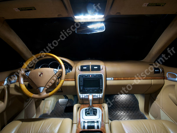 pack int rieur led pour porsche cayenne 955 led auto discount. Black Bedroom Furniture Sets. Home Design Ideas