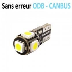 Ampoule led T10 W5W - (5SMD-5050) - Anti Erreur ODB