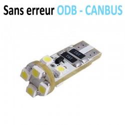 Ampoule led T10 W5W - (8SMD-3528) 360° - Anti courant résiduel