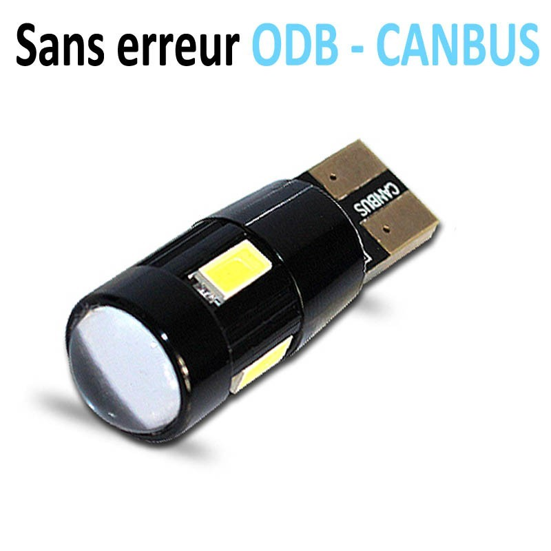 Ampoule led T10 W5W RING - (6SMD-5630) - Anti Erreur ODB - Blanc