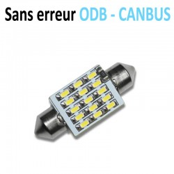 Ampoule Navette Led 15SMD 3014 - anti courant résiduel