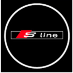 Module éclairage bas de portes logo led S-Line pour Audi