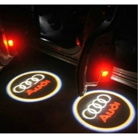 Module éclairage bas de portes logo led Audi pour Audi