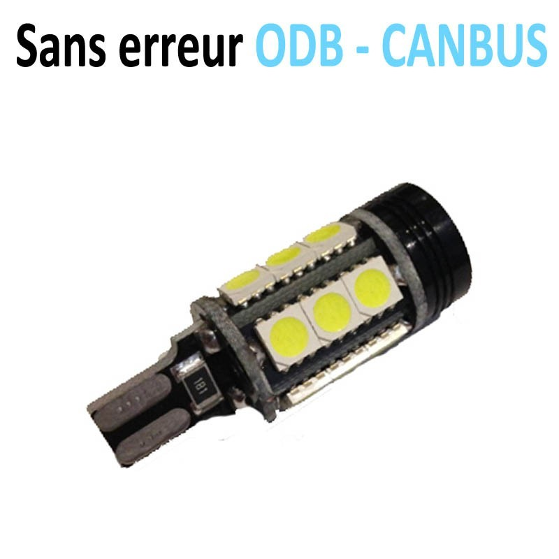 Ampoule LED W16W T15 15SMD + 1HDSMD - CANBUS - 9W