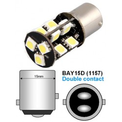 LED P21/5W Bay15d - (19SMD-360) - Anti Erreur ODB - Blanc