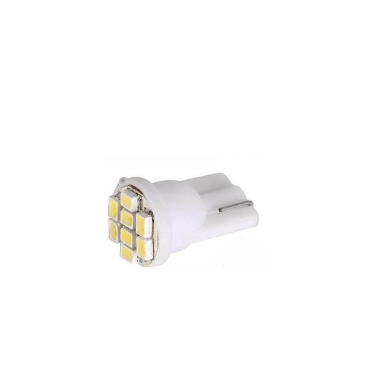 LED T10 W5W - (8SMD-1206/3020) - Blanc Xenon