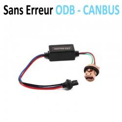 Support ampoule T20 7443 W21/5W + résistance anti erreur ODB