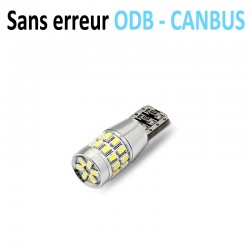 Ampoule led T10 W5W RING - (30SMD-3014) - Anti Erreur ODB