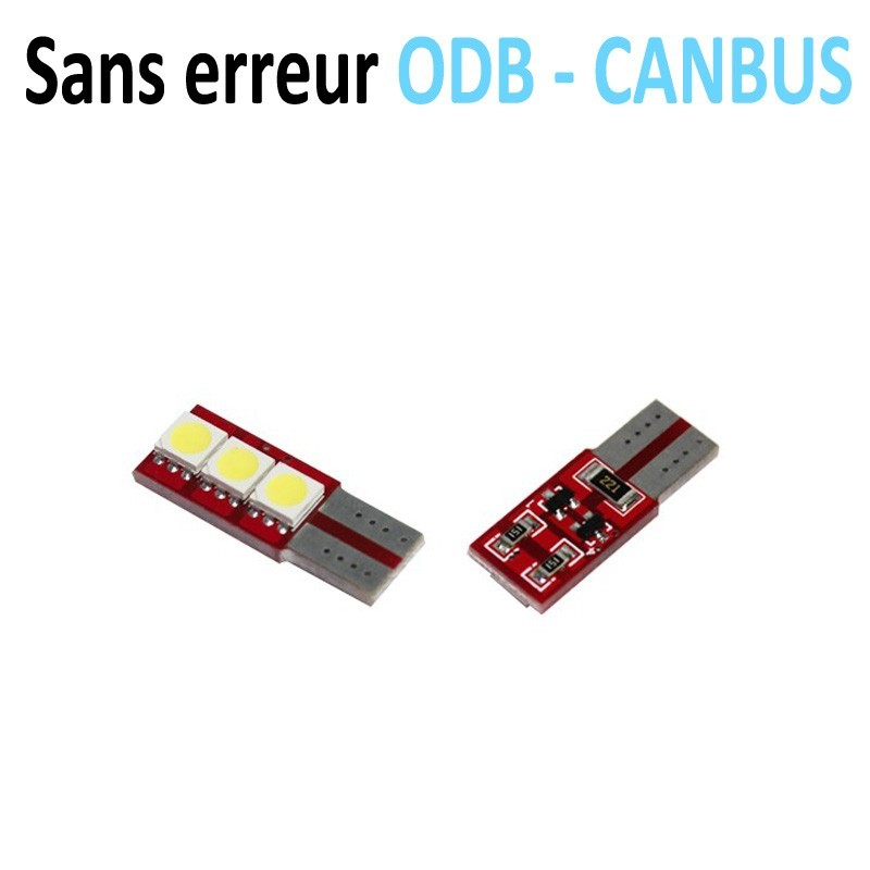 Ampoule LED T10 W5W - (3SMD-FACE) - Anti Erreur ODB