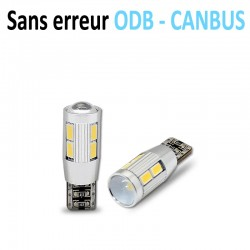 Ampoule led T10 W5W RING - +3W CREE - (8SMD-5630) - Anti Erreur ODB