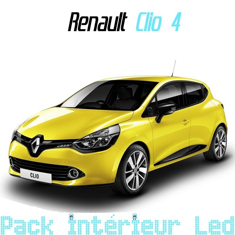 pack int rieur led pour renault clio 4 led auto discount. Black Bedroom Furniture Sets. Home Design Ideas