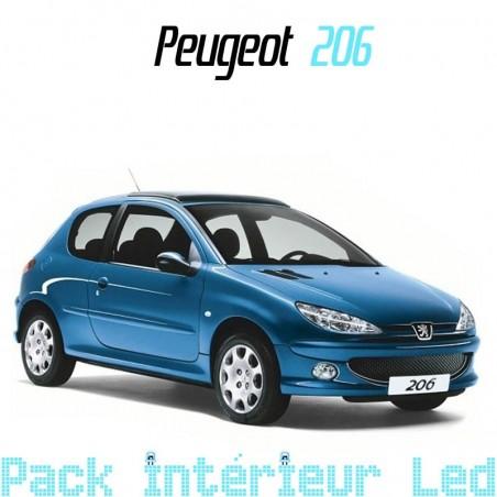 Pack intérieur led pour Peugeot 206