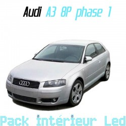 Pack Led interieur Audi A3 8P ph1