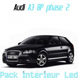 Pack Led interieur Audi A3 8P ph2