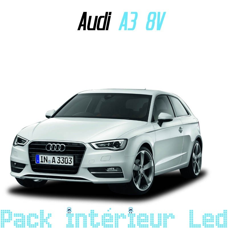 pack int rieur led pour audi a3 s3 8v led auto discount. Black Bedroom Furniture Sets. Home Design Ideas
