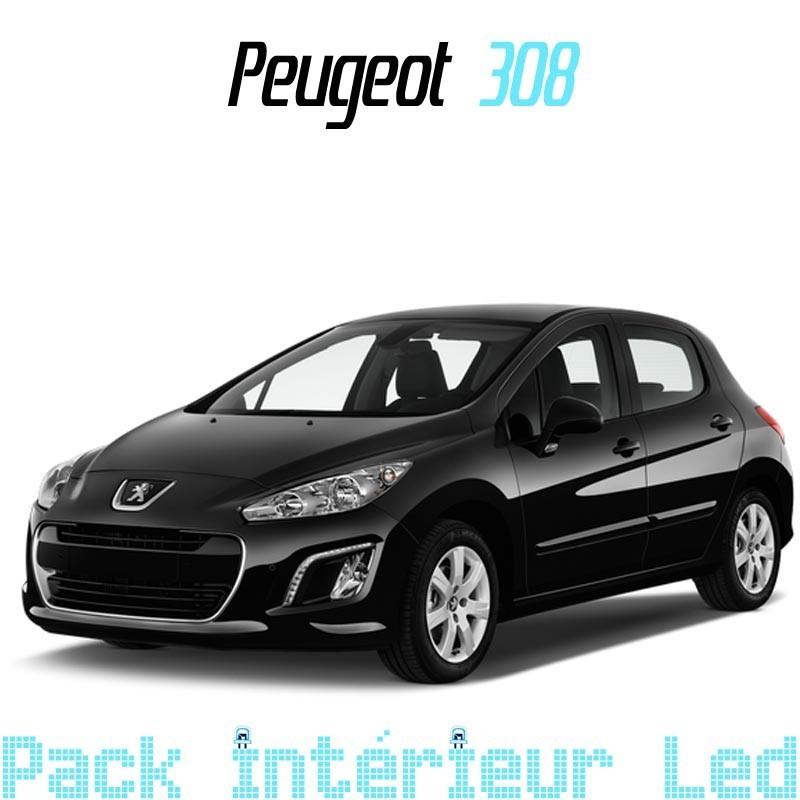 Pack Full led intérieur + plaque Peugeot 308