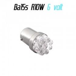 Ampoule Led 6 volt R10W Ba15s - (9led-6v)
