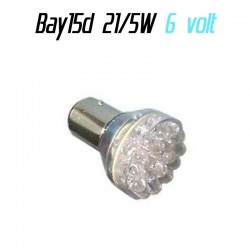 Ampoule Led 6 volt P21/5W Bay15d - (24led-6v)