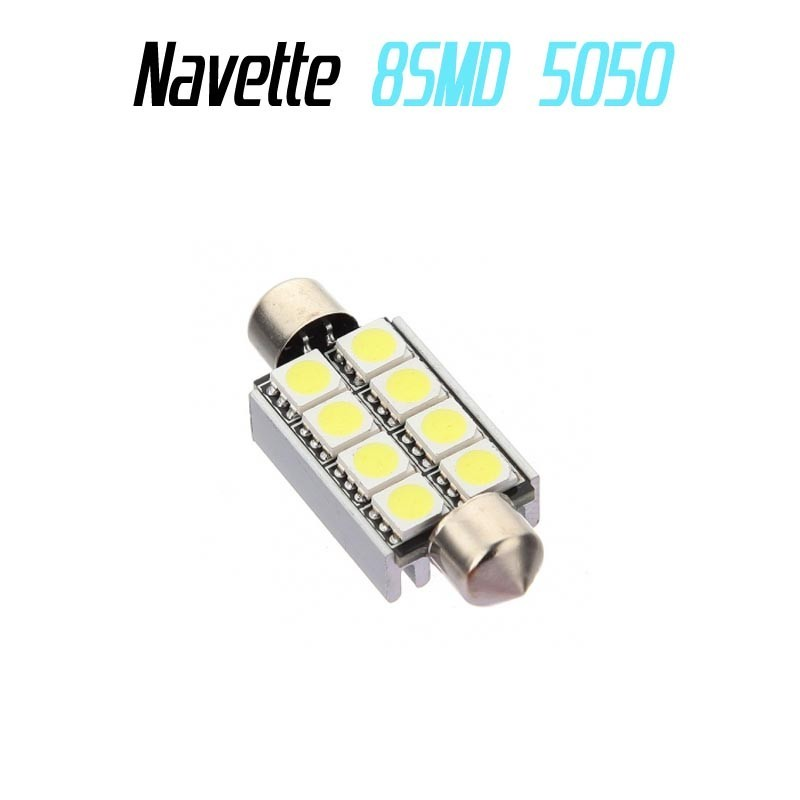 Ampoule navette Led 8 SMD 5050 anti erreur ODB