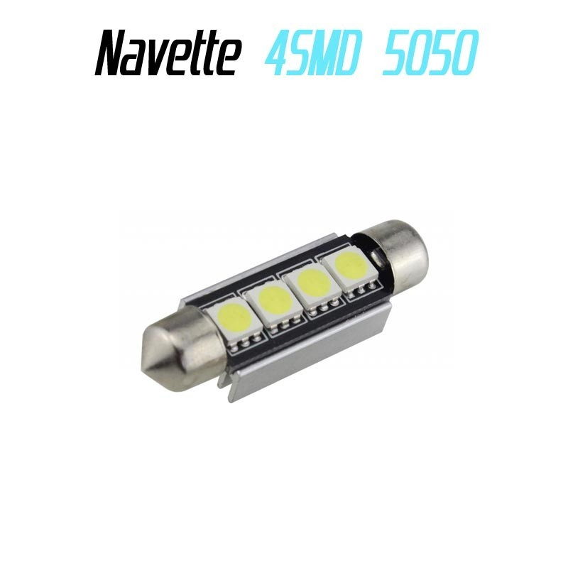 Ampoule navette Led 4 SMD 5050 anti erreur ODB