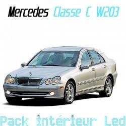 Pack intérieur led pour Mercedes Classe C W203