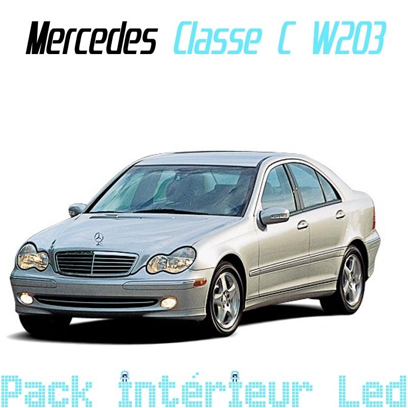 pack int rieur led pour mercedes classe c w203 led auto discount. Black Bedroom Furniture Sets. Home Design Ideas