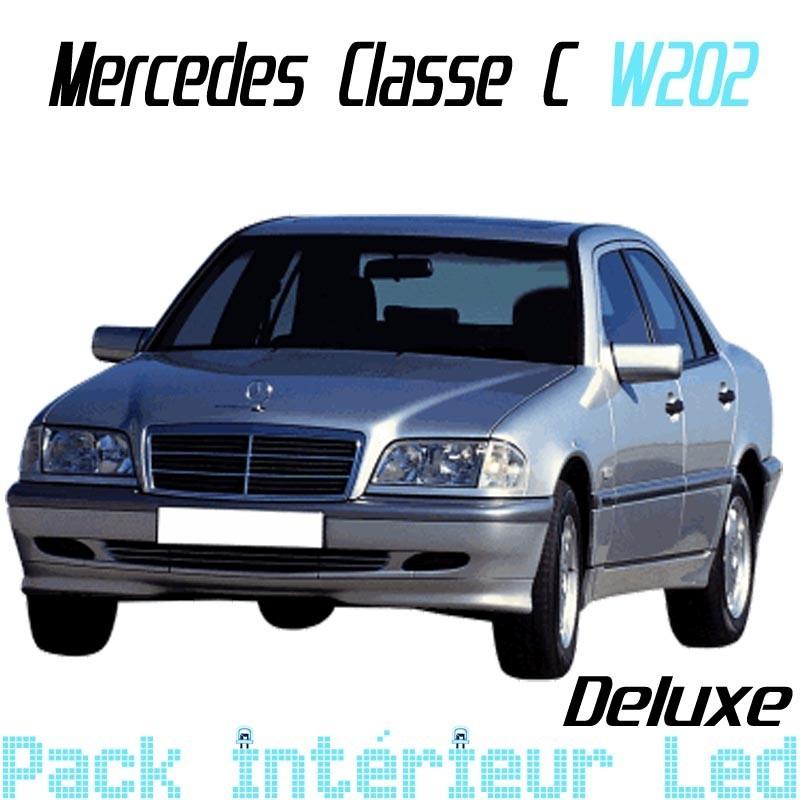 pack int rieur led deluxe pour mercedes classe c w202 led auto discount. Black Bedroom Furniture Sets. Home Design Ideas