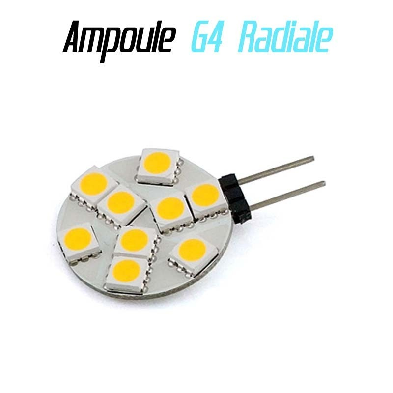 Ampoule led G4 Radiale - (9SMD)