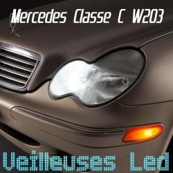 Pack ampoules veilleuses led pour Mercedes Classe C W203