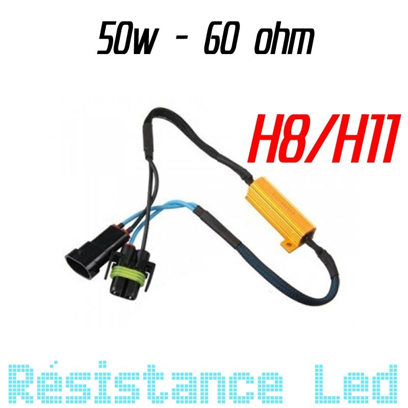Résistance 50w anti erreure ODB 6ohm H8 H11