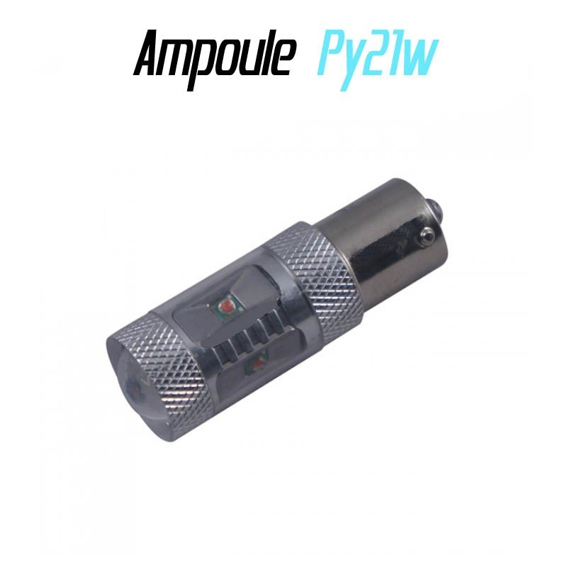 Ampoule Led PY21W Bau15s - ORANGE (CREE-30w)
