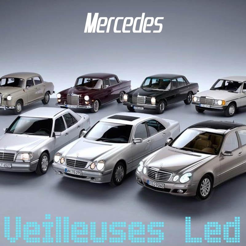 Pack veilleuses à leds pour Mercedes Classe A B C E ML GLK CLK SLK